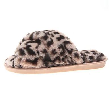 voordelige Damespantoffels & slippers-Dames Slippers & Flip-Flops Platte hak Gesloten teen Satijn Lente Grijs / Geel / Roze