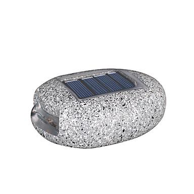 abordables Éclairage Extérieur-1pc 0.2 W Lumières de pelouse Imperméable / Solaire / Contrôle de la lumière Blanc 1.2 V Eclairage Extérieur / Cour / Jardin 2 Perles LED