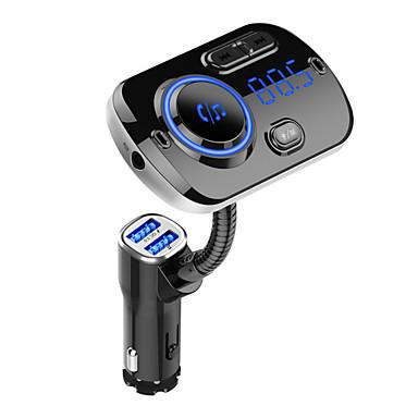voordelige Automatisch Electronica-FM-zender Bluetooth 5.0 Car Handsfree Kit Mp3-speler Ondersteuning TF-kaart / U Disk afspelen Dual USB Snel opladen BC49A