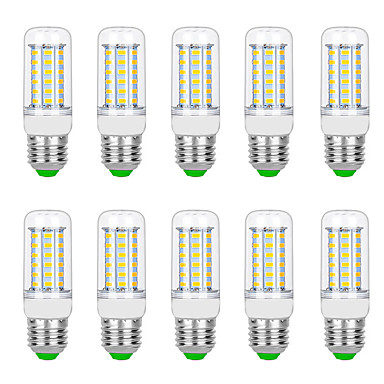 billige Elpærer-10pcs 8 W LED-kornpærer 3000 lm G9 B22 E12 / E14 T 56 LED perler SMD 5730 Varm hvit Hvit 220 V 110 V