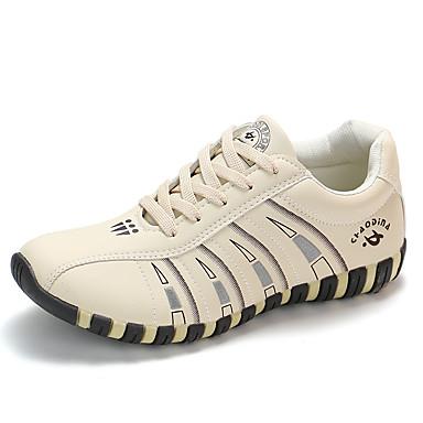 povoljno Ženske cipele-Žene Sneakers Ravna potpetica Okrugli Toe PU Ležerne prilike Trčanje Jesen / Proljeće ljeto Obala / Crn / Bež