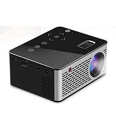 billige Projektorer-unic t200 mini bærbar projektor hjemme hd barns hjemmekino projektor multimedie spiller kompatibel hdmi / usb / dc / av / tf kort svart