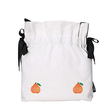 cheap Bags-Women's Sashes / Ribbons Canvas Crossbody Bag Solid Color White / Black / Yellow / Fall & Winter