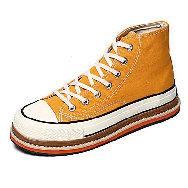 Erkek Ayakkabı Kanvas Bahar / Sonbahar Sportif / Günlük Spor Ayakkabısı Yürüyüş Günlük / Dış mekan için Siyah / Beyaz / Sarı