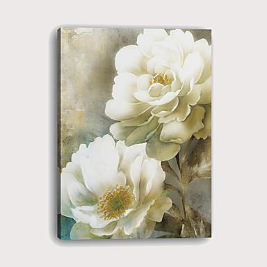 Boyama Gerdirilmiş Tuval Resimleri - Soyut Botanik Modern Sanatsal Baskılar
