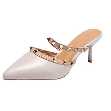 Kadın's Sandaletler Stiletto Topuk PU Yaz Açık Mavi / Bej