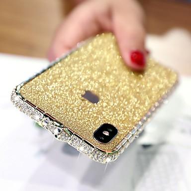 hesapli iPhone Kılıfları-Pouzdro Uyumluluk Apple iPhone XS / iPhone XR / iPhone XS Max Taşlı Arka Kapak Solid Sert Metal