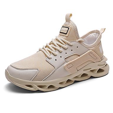 Erkek Ayakkabı PU İlkbahar yaz İngiliz / Çıtı Pıtı Atletik Ayakkabılar Günlük / Dış mekan için Siyah / Beyaz / Kırmzı