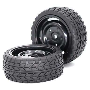 2 * 1/10 Scale RC Car Tire & Wheel - 2pcs Other Silgi N / A