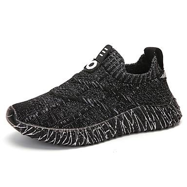 povoljno Dječje cipele-Dječaci Elastična tkanina Sneakers Velika djeca (7 godina +) Udobne cipele Hodanje Crn / Bijela Ljeto
