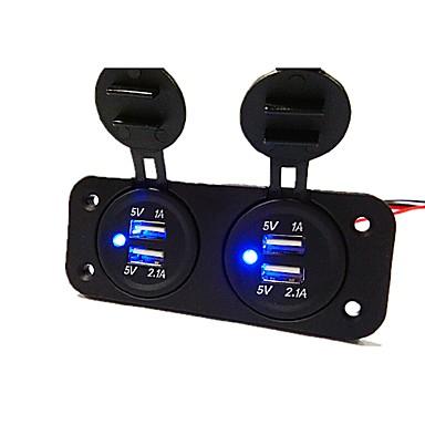 billige Bil Elektronikk-5v 3.1a billader to-hulls panel med 4 usb port vanntett strømadaptere strømuttak