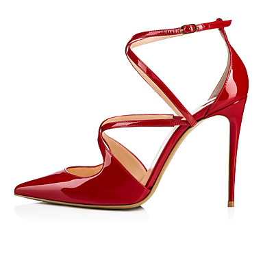 povoljno Ženske cipele-Žene Cipele na petu Stiletto potpetica Krakova Toe Kopča Eko koža minimalizam Proljeće ljeto / Jesen zima Nude / Crvena / Crn / Zabava i večer