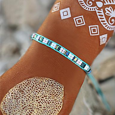 abordables Bracelet-Chaînes Bracelets Bracelet à Perles Bracelet Femme Perles Boule simple Bohème Doux Mode Bracelet Bijoux Vert Rond Circulaire Forme de Ligne pour Cadeau Carnaval Ecole Vacances Festival