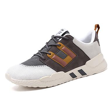 Erkek Ayakkabı Suni Deri / PU İlkbahar yaz Günlük / Çin Stili Atletik Ayakkabılar Bisiklet / Yürüyüş Bootiler / Bilek Botları Günlük / Dış mekan için Dikişli Dantel / Kurdele Bağcık / Püsküllü Koyu