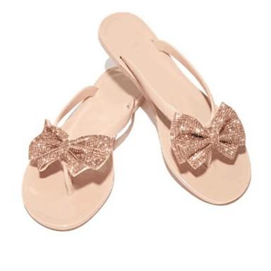voordelige Damespantoffels & slippers-Dames Slippers & Flip-Flops Platte hak Strik PVC Zomer Zwart / Roze / Helder