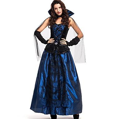 Vampir Günlükleri Kostüm Kadın's Peri Masalı Teması Cadılar Bayramı Performans Kostümler Kadın's Dans kostümleri Örümcek Ağı Tül