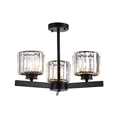 потолочные светильники хрустальные люстры полу скрытого монтажа круглый хрустальный кубик подвесной светильник спальня люстра подвесные светильники 3-светлый черный k 9 потолочный подвесной светильник