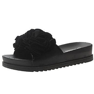 Kadın's Terlik & Flip-flops Düz Taban Mikrofiber Yaz Siyah / Kırmzı / Pembe
