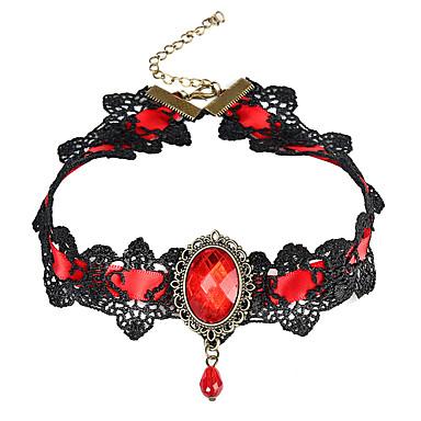 billige Mote Halskjede-Dame Halskjede Pære Pære Gotisk Harpiks Chrome Rød 40 cm Halskjeder Smykker 1pc Til Ferie Klubb