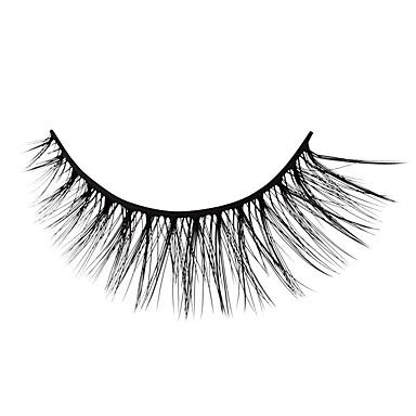 Rzęsa 6 pcs Prosty Damskie Ultra lekki (UL) Wygodny Casual Rzęsy z węłny zwierzęcej Dzienne zużycie Urlop Pełne rzęsy - Makijaż Makijaż codzienny Klasyczny Kosmetyk Akcesoria do czesania