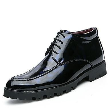 Erkek Ayakkabı PU Kış Günlük / İngiliz Çizmeler Yürüyüş Bootiler / Bilek Botları Günlük / Dış mekan için Siyah / Mavi
