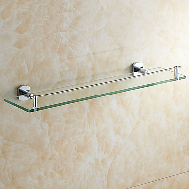 Banyo Rafı Yaratıcı Modern cam 1pc - Banyo Duvara Monte Edilmiş