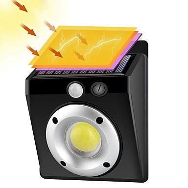 billige Utendørsbelysning-zdm 1 stk cob menneskekropp induksjon vegglampe sollys kontroll utendørs belysning polysilicon ip55 vanntett støvtett lynbeskyttelse energisparende nattlys