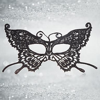 voordelige Maskers voor de feestdagen-Halloweenmaskers Carnavalsmaskers Sexy kanten masker tekstiili Vlinder Horrorthema Volwassenen