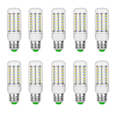 billige Elpærer-10pcs 10 W LED-kornpærer 3000 lm G9 B22 E12 / E14 T 69 LED perler SMD 5730 Varm hvit Hvit 220 V 110 V