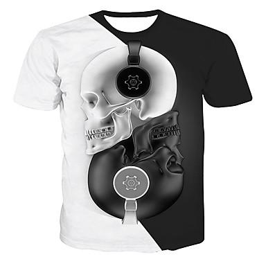 baratos Camisas para Meninos-Infantil Bébé Para Meninos Activo Básico Geométrica Estampado Estampa Colorida Estampado Manga Curta Camiseta Branco