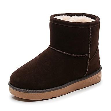 baratos Sapatos de Criança-Para Meninos Couro Ecológico Botas Little Kids (4-7 anos) Botas de Neve Preto / Camel / Vermelho Inverno / Botas Cano Médio