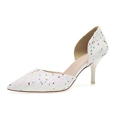 povoljno Ženske cipele-Žene Vjenčanje Cipele Stiletto potpetica Krakova Toe Šljokice Sintetika slatko / Uglađeni Proljeće ljeto Kristalne