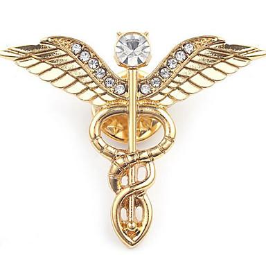 voordelige Dames Sieraden-Heren Broches Sculptuur Engelenvleugels Stijlvol Europees Broche Sieraden Goud Zilver Voor Dagelijks