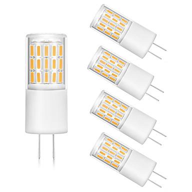 5pcs 3 W LED Bi-pin Işıklar 300 lm G4 T 45 LED Boncuklar SMD 4014 Sıcak Beyaz Beyaz 12 V