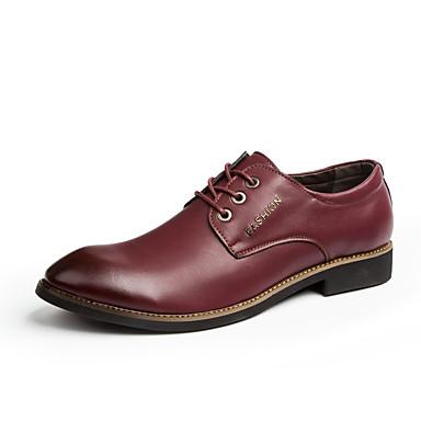 Erkek Ayakkabı PU Yaz Oxford Modeli Parti ve Gece / Ofis ve Kariyer için Siyah / Şarap / Kahverengi