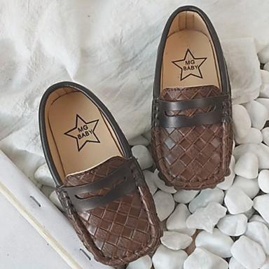 baratos Sapatos de Criança-Para Meninas Couro Ecológico Mocassins e Slip-Ons Little Kids (4-7 anos) Mocassim Preto / Branco / Marron Primavera