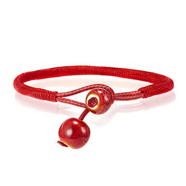abordables Bracelet-Bracelets Vintage Boucles d'oreilles / Bracelet Loom Bracelet Femme Tressé Tissage Coréen Mode Le style mignon Elégant Coloré Bracelet Bijoux Rouge Forme Géométrique pour Quotidien