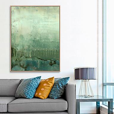Недорогие Картины в рамах-Отпечаток в раме Холст в раме С принтом - Абстракция Полистирен Масляные картины Предметы искусства