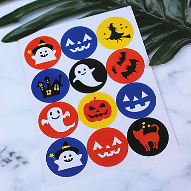 voordelige Feestbenodigdheden-Halloween / Festival Feestaccessoires Stickers Met patroon Puur papier Klassiek Thema / Creatief / rustieke Theme