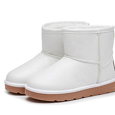 baratos Sapatos de Criança-Para Meninas Pêlo Sintético Botas Little Kids (4-7 anos) Botas de Neve Preto / Branco / Vermelho Inverno / Botas Curtas / Ankle