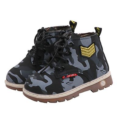 Poikien / Tyttöjen PU Bootsit Pikkulapset (4-7 vuotta) / Suuret lapset (7 vuotta +) Maiharit Neulottu pitsi Musta / Vihreä / Viini Syksy / Talvi / Nilkkurit / Armeijatyyli