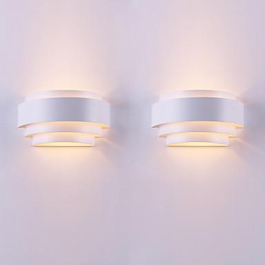 2 adet çağdaş sözleşmeli bireysel karakter ark özgünlük duvar lambası oturma odası için geçerlidir / yatak odası