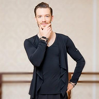billige Danseklær og Dansesko-Latin Dans Topper Herre Trening Chiffon Kombinasjon Topp