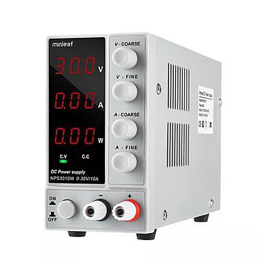voordelige Elektrisch gereedschap-minleaf nps3010w 110v / 220v digitale verstelbare gelijkstroomvoeding 0-30v 0-10a 300w gereguleerde laboratoriumstroomvoorziening supp