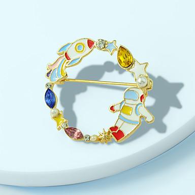 voordelige Dames Sieraden-Dames Broches Bladvorm Tandwiel Stijlvol Uniek ontwerp Zoet Broche Sieraden Goud Voor Dagelijks Werk Festival