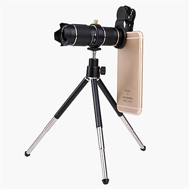 voordelige Microscopen & Endoscopen-universele clip hd15x zoom mobiele telefoon telescoop lens telelens externe smartphone cameralens voor iPhone Samsung Huawei