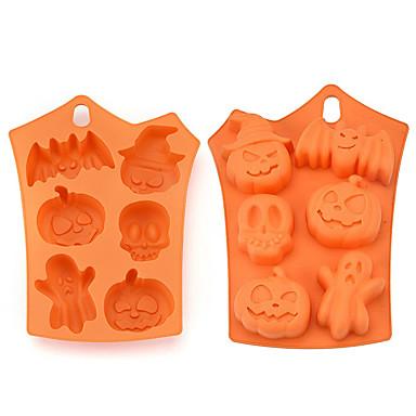 povoljno Halloween promocija-1pc silika gel 3D Halloween Uradi sam Za posuđe za kuhanje Torte za kalupe Bakeware alati