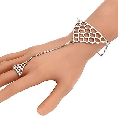abordables Bracelet-Bracelets Bagues Femme Tressé Précieux Mode Bracelet Bijoux Dorée Argent pour Quotidien