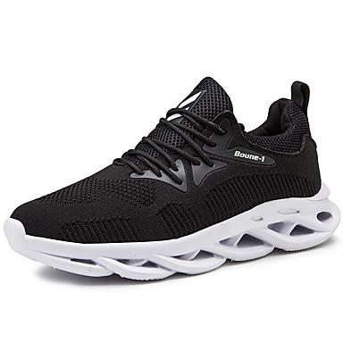 Erkek Ayakkabı Örümcek Ağı Yaz / Sonbahar Sportif / Günlük Atletik Ayakkabılar Koşu / Yürüyüş Atletik / Günlük için Siyah / Siyah ve Beyaz / Gri