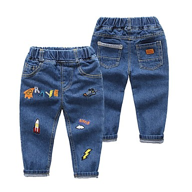 baratos Jeans Para Meninos-Infantil Para Meninos Galáxia Jeans Azul